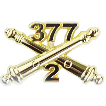 2-377 Field Artillery Crossed Cannons Large