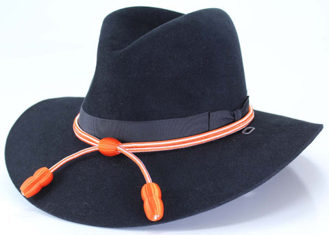Hat Cord Orange and White Signal