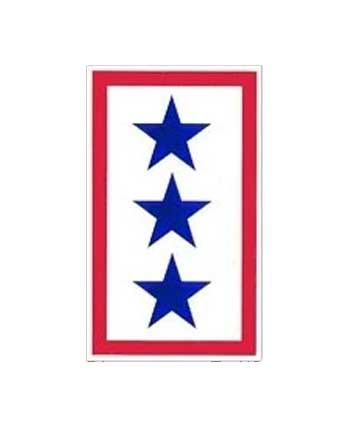 Service Flag 3 Star Window Sticker Decal