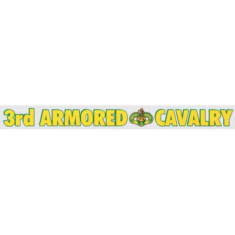 3D Armored Cavaly Regiment Window Sticker