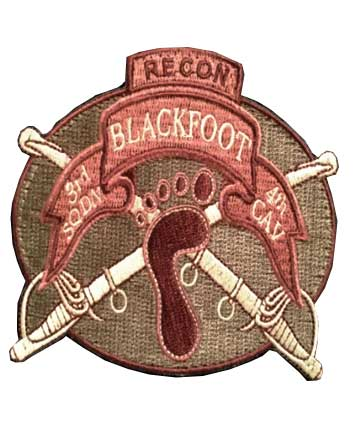3-4 Cav Blackfoot Recon Patch (Subdued)