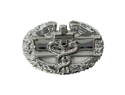 Army Combat Medical Badge - First Award - Bright Silver Finish