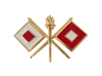 Army Signal Corps Branch Insignia - Crossed Flags