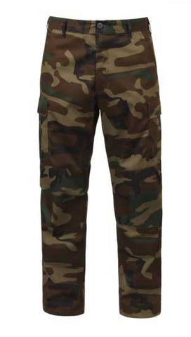 Camo Tactical BDU Pants - Woodland Camo
