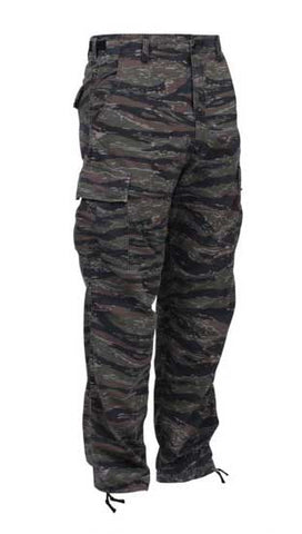 Camo Tactical BDU Pants - Tiger Stripe Camo