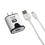 2 amp home charger with 3.2 foot lightning cable