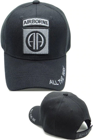 82nd Airborne Military Cap - Grey/Black