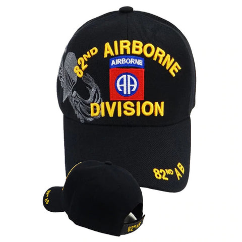 82nd Airborne Military Cap Black
