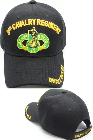 3rd Cavalry Regiment Military Cap - Black