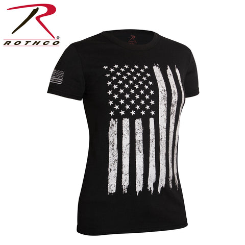 Distressed US Flag T-Shirt-Women