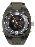 XLarge Military Style Analog & Digital Display Watch-Olive Drab