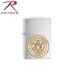 Zippo Lighter with Army Crest-Chrome