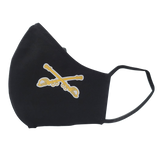 Black Cotton Face Mask with Crossed Sabers