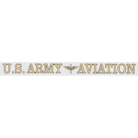 "16"" ARMY AVIATION WINDOW STICKER"