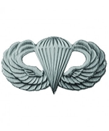 Basic Airborne Jump Wings Silver Oxide 1 1/4""
