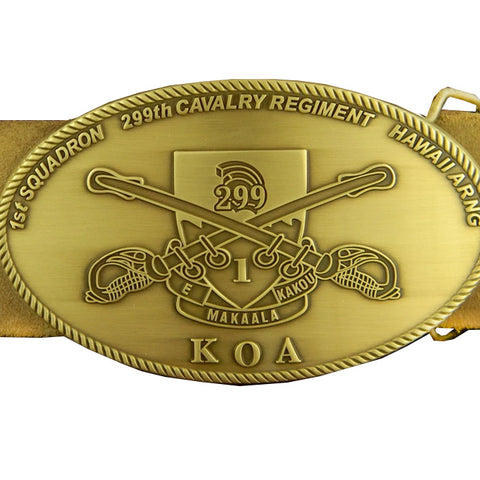 Custom 1-299 Cavalry ARNG Belt Buckle