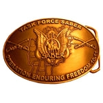 Task Force Saber - Operation Enduring Freedom OEF 10-11 Belt Buckle