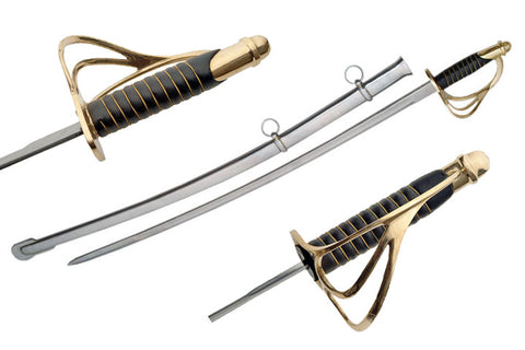 Black Handle Cavalry Saber - CavHooah
