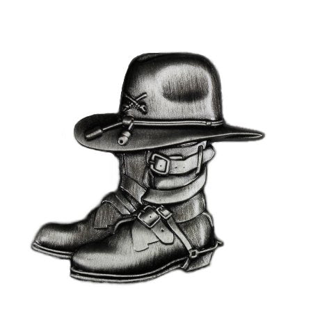 Cavalry Memorial Pin Stetson Cav Hat and Boots