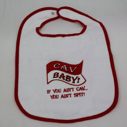 Cav Baby Embroidered Bib