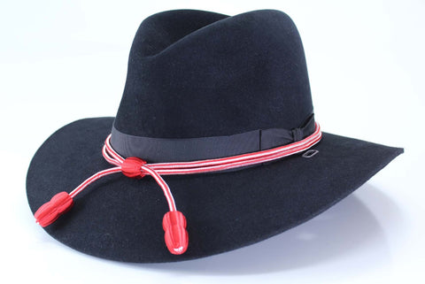 Hat Cord Red White Engineer