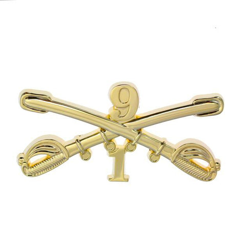 Custom 1st Squadron, 9th Cavalry Regiment Large Size Crossed Sabers