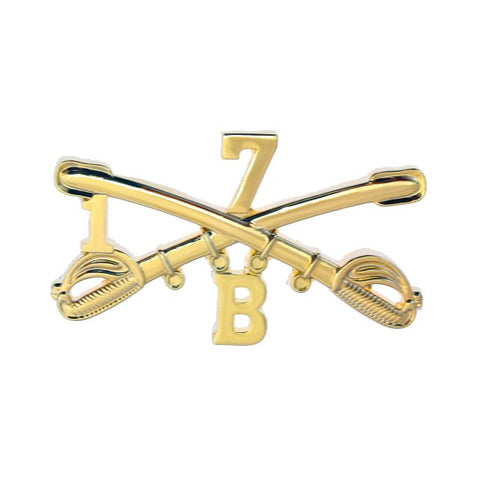 B 1-7 Cav Large Size Crossed Sabers