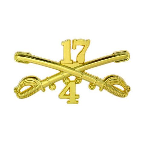 Custom 4-17 Cavalry Large Size Crossed Sabers