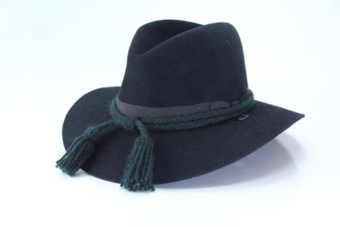 Civil War Style Hat Cord - Forest Green/White