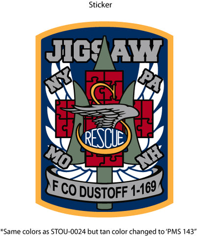 F Co. 1-169 Dustoff Sticker