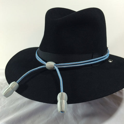Hat Cord Light Blue and Grey Military Intelligence