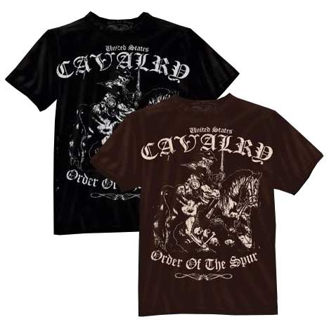 "Cavalry ""Order of the Spur"" T-Shirt - Black / Brown"