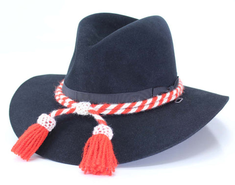 Civil War Style Hat Cord - Red/White Indian Scout
