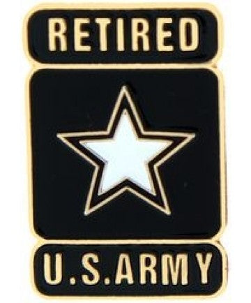 Army Retired Star Pin