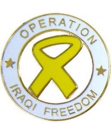 Yellow Ribbon OIF Pin