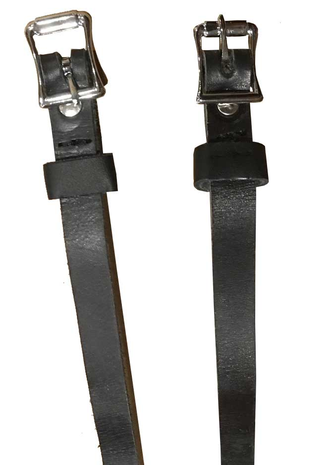 High Quality Shires Leather Spur Straps Buckles Riding Black Hunting New
