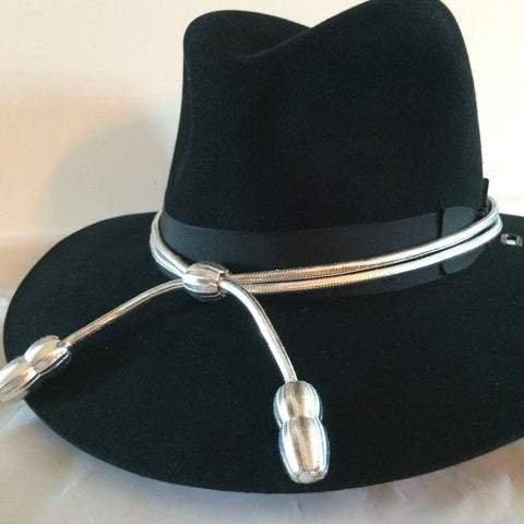 Hat Cord Solid Silver Senior Warrant Officer