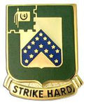 "16th Cavalry DIstinctive Unit Insignia DUI ""Strike Hard"""