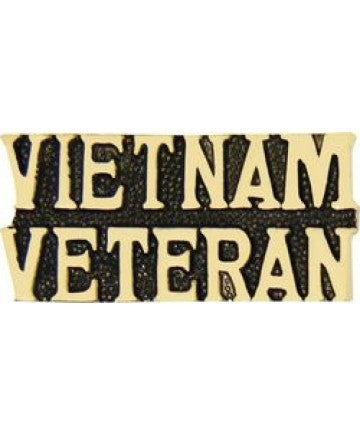 VIETNAM VETERAN Text Pin