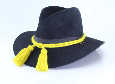 Civil War Style Hat Cord - Yellow Enlisted