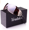 Verdster Casual Wrap Ladies Sunglasses - UV Protection - Women's Large Shield Designer Shades - Rimless Design - Great for Driving - Case included (UK/AU)