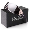 Verdster Casual Wrap Ladies Sunglasses - UV Protection - Women's Large Shield Designer Shades - Rimless Design - Great for Driving - Case included, Coffee Colored (UK/AU)