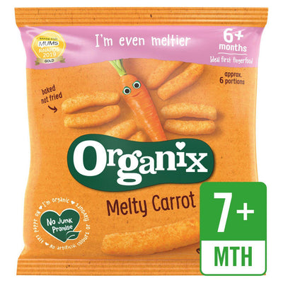 Organix Melty Carrot Puffs Organic Baby Finger Food Snack 20g (UK/AU)