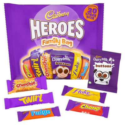 Cadbury Heroes Family 20 Treatsize Packs 278g (UK/AU)