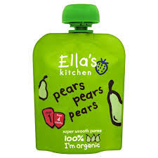 Ella's Kitchen Organic Smooth Pear Puree 70g (UK/AU)
