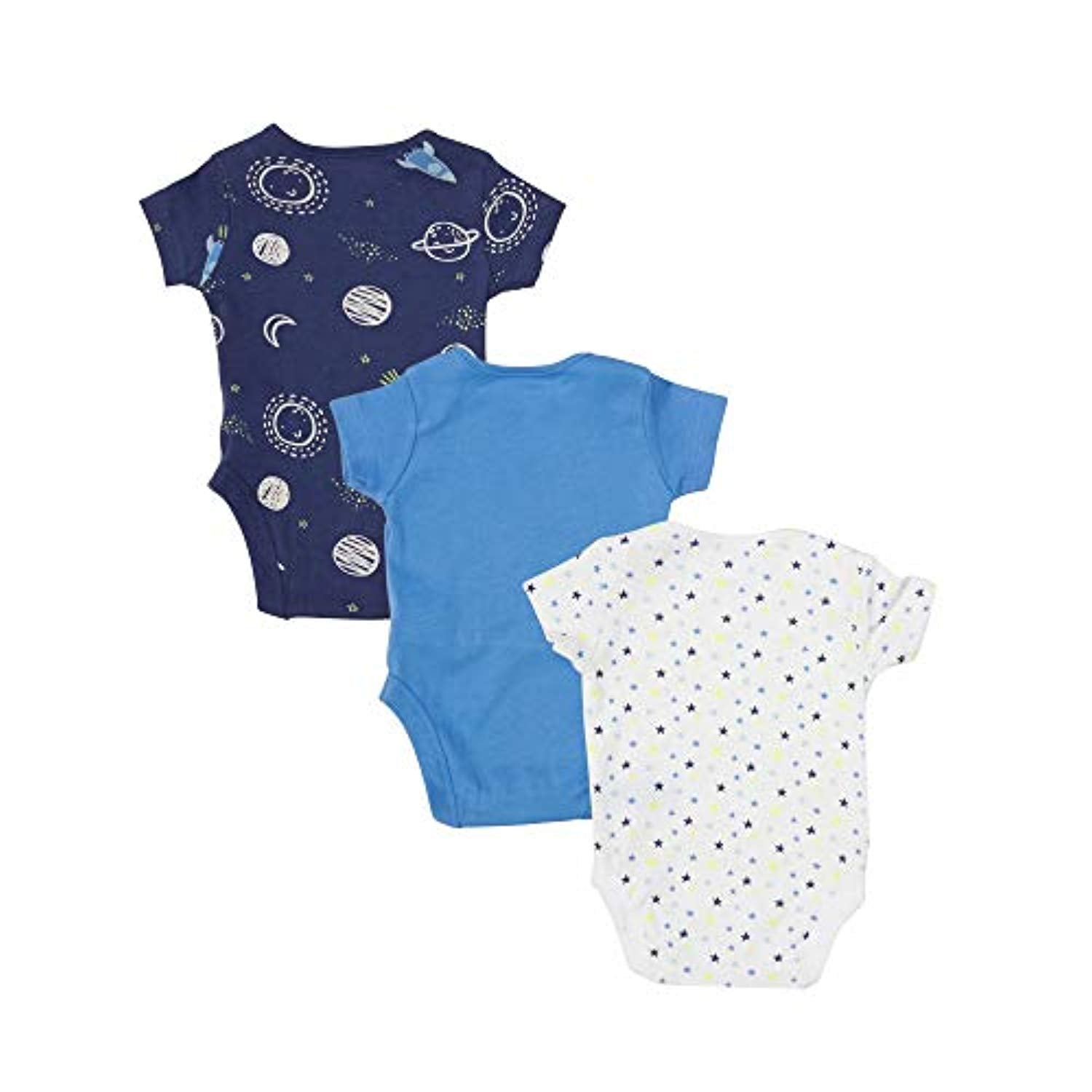 Mothercare 3PK Pure Cotton bodysuits for baby boys girls available in pink//blue