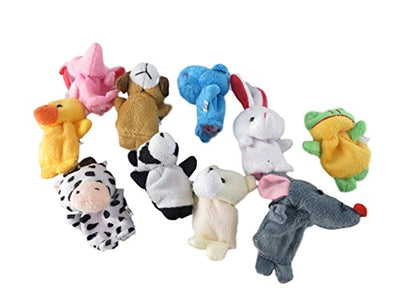 Brand New Set of10 Family Finger Cloth Doll Puppets Baby Educational Hand Cartoon Animal Toy (UK/AU) - eJinish BD