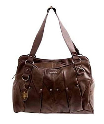 Womens Leather Vintage Style Handbag Black Red Brown - eJinish BD