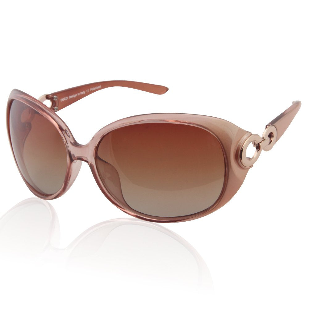 975218f65a DUCO Shades Classic Oversized Polarised Sunglasses for Women and Ladies 100%  UV Protection 1220
