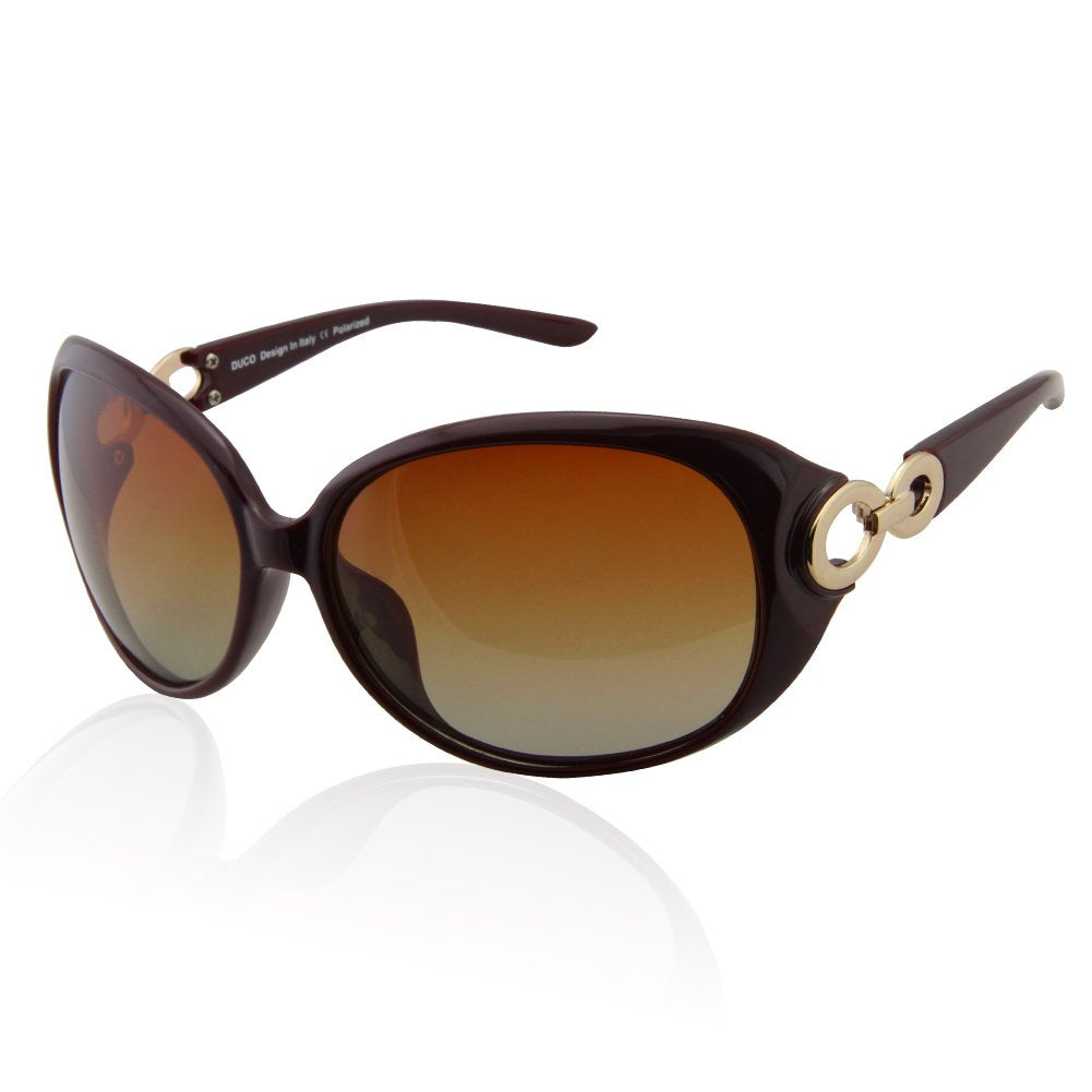 7a33338a709 DUCO Shades Classic Oversized Polarised Sunglasses for Women and Ladies  100% UV Protection 1220 (UK AU)